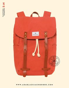 adablackjack:Our No. 2   Backpack, TerracottaAvailable at www.adablackjackgoods.com