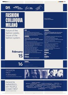 graphic design of Fashion Colloquia Milan #academy #domus #colloquia #poster #fashion