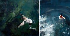 swimming, art, fine art