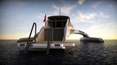Modern yacht back view #super #adastra #yacht #modern