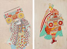 'Carry On', a new exhibition by Ferris Plock #pattern #illustration #samurai #hop #hip