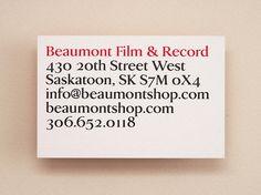 Beaumont Film & Record | Vitae Design
