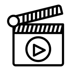 See more icon inspiration related to film, video, clapperboard, music and multimedia, play button, video player, clapper, entertainment, movie, cinema and multimedia on Flaticon.