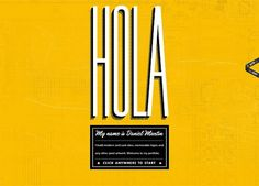 30 Strikingly Vibrant Web Designs for Inspiration #typography #web #hola