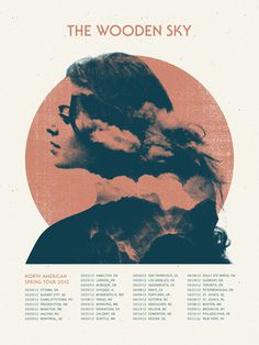 The Wooden Sky - Doublenaut #gig #poster