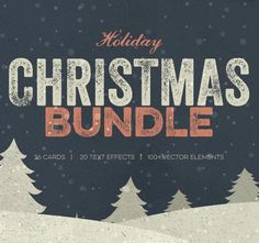 Mini Xmas Bundle #christmas #holidays #typography