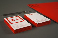 A + Self-Branding #red #business #branding #flourescent #card #lca #behance #identity #leeds