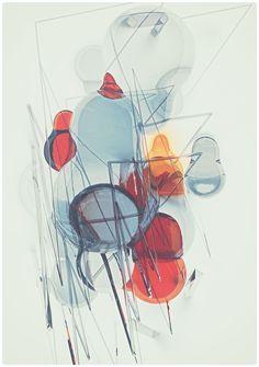 Glitch bubbles on the Behance Network #atelier #bubbles #illustration #glitch #olschinsky