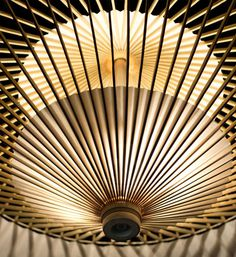 Light Fixture Made of Bamboo Umbrella