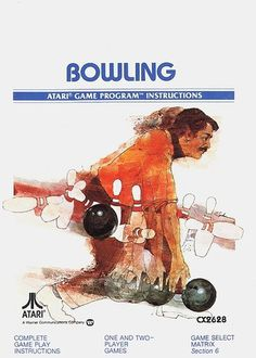 Atari - Bowling | Flickr - Photo Sharing! #games #video #illustration #manual #booklet