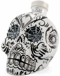 DISTILUS - Beverages » Tequila » KAH Tequila Blanco #tequilla #scull #bottle