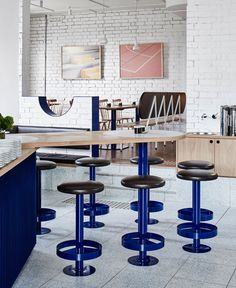 Mammoth Café by Techne Architecture + Interior Design - #restaurant, restaurant  Secondary color scheme Blue - Red - Yellow
