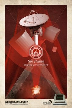 The Flame | Flickr: Intercambio de fotos #movie #design #graphic #hanso #initiative #dharma #vintage #poster #collage #lost