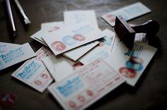 kolor on the Behance Network #stamp #design #graphic #brand #logo #cards