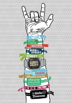 Posters on the Behance Network #rockroll #watch #hipster #handmade #art #street #music #hand