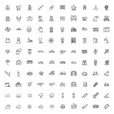 Tim Boelaars — Monicons 1 – 100 icons #icon #vector #icons #set