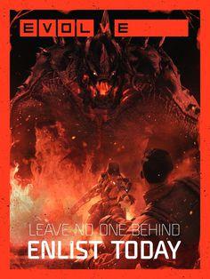 E V O L V E #red #horror #sci #fi #evolve #gaming #evolution #poster #monster #art #action