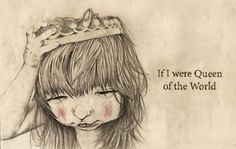 illustrations on Behance #crown #pencil #girl