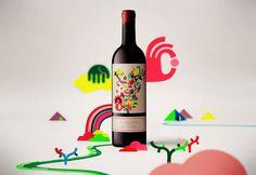 La vinya del vuit wine labels #colourful #packaging #illustrative #label #wine