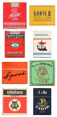 Amazing vintage cigarette pack designs from around the world #vintage typography #vintage packaging #christian kranich #cigaratte packaging