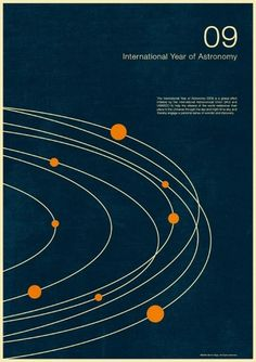 excites | Graphic Designer | Simon C Page #print #poster #graphic #astronomy #year