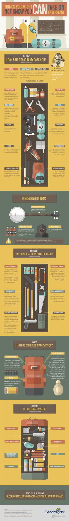 Did you know you can take #firearms on a #plane? If they are in your checked bags, that is! Learn more from this infographic!