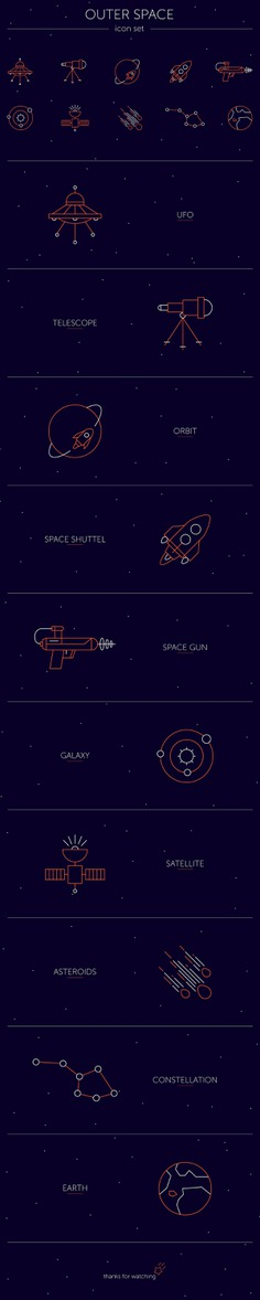 Outer Space // icon set on Behance