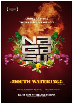 NAGASUI Poster #steel #movie #asia #vegetables #restaurant #cinema #fire #poster #watering #mouth