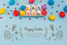 Happy easter day Free Psd. See more inspiration related to Mockup, Template, Leaf, Chocolate, Spring, Leaves, Celebration, Happy, Holiday, Flat, Mock up, Easter, Plant, Religion, Rabbit, Egg, Traditional, Bunny, View, Up, Happy easter, Day, Top, Top view, Eggs, Carton, Flat lay, Cultural, Tradition, Painted, Mock, Seasonal, Easter day, Lay, Egg carton, Paschal and Painted egg on Freepik.