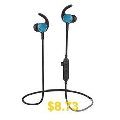 Bluetooth #Headphones #with #TF #SD #Card #Slot #Sweatproof #Wireless #In #Ear #Earbuds #- #BLUE