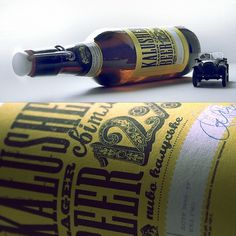 Recent label designs on the Behance Network #beer #bottle #packaging #design #label #vintage #typography