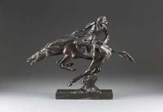 BRUNO ZACH 1891 Zhitomir/ Ukraine - 1945 Vienna, Indian on galloping horse