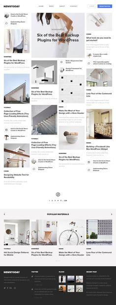 Newstoday by Vlad Musienko #ux #design #ui #minimal #web