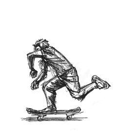 quick gesture of Andy Kessler #line #sketch #ink #skate #gesture #skateboarding
