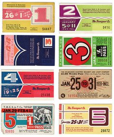 Bus Tickets #vintage