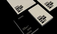 Stationery design - Stone Nest by Ascend Studio #dynamic #stationery #art #contemporary