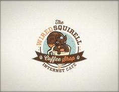 The wired Squirrell #taza #squirrel #internetcafe #cafe #brown #wired #animals #coffee #cup