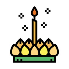 See more icon inspiration related to loy krathong, cultures, festival, thailand and candle on Flaticon.