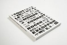 Tout le monde connaît Roger Excoffon | Swiss Legacy #cover #typographic #book