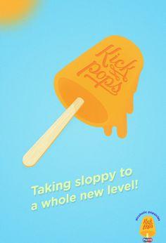Lol! #popsicles #alcoholic #kick #illustration #pops #typography