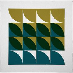 #214 Tides – A new minimal geometric composition each day