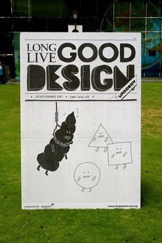 LONG LIVE GOOD DESIGN #design #shapes #simple #illustration #poster #poo #hanging #humor