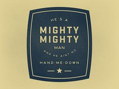 Mightyman #typography