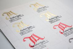JA Custom Types on Behance #calligraphy #lettering #business #card #handmade