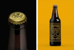 Goldhawk Ale by Don't Try Studio #graphic design #vector #print #bottle #caps