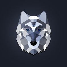 a lonely wolf #wolf #art #illustration #low poly