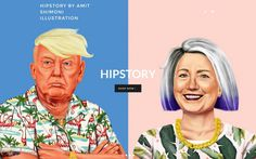 Hipster clinton trump illustration colorful modern cool best beauty beautiful new style trend typography type typdesign black white mindspar
