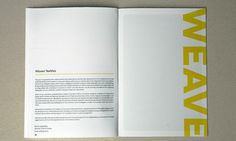 NCAD booklet #layout #booklet #textiles #brochure