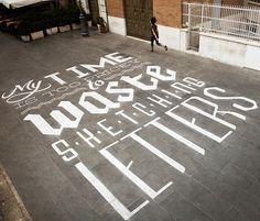 this isn't happiness™ (We Love Typography), Peteski #outside #waste #chalk