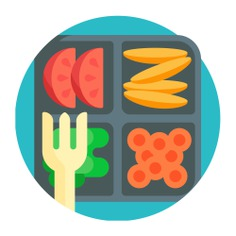 See more icon inspiration related to lunch, meal, food, diet, fruit, salad, box, food and restaurant, lunch box, healthy food, forks, container and vegetables on Flaticon.